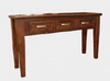 COTTAGE (1904) 1420 3 DRAWER HALL TABLE -  800(H) x 1420(W) x 420(D)