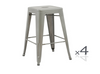 TOLIX RETRO SET OF 4  CAFE BAR STOOLS (ZWF-4CBS-30)  - SEAT 750(H) - SILVER