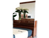 KARISMA 3 DRAWER DRESSING TABLE WITH MIRROR - HIGH GLOSS WOOD GRAIN