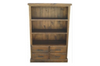 COBAR BOOKCASE (COBBC1.8) WITH 4 DRAWERS - 1870(H) X 1000(W) - ROUGH SAWED