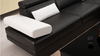 GORICA CORNER LOUNGE SUITE WITH CHAISE (K5009) WITH MATCHING COFFEE TABLE - CHOICE OF LEATHER AND ASSORTED COLOURS AVAILABLE