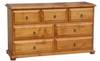 AVONDALE 7 DRAWER DRESSING TABLE  -   795(H) X 1400(W) -  CHESTNUT OR WALNUT