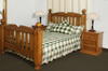 BORON QUEEN  3 PIECE BEDSIDE  BEDROOM SUITE (MODEL - 23-9-14-38-5-19-12-5-18)  - CHESTNUT OR WALNUT
