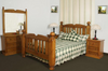 BORON QUEEN 5 PIECE DRESSER  BEDROOM SUITE (MODEL - 23-9-14-38-5-19-12-5-18)  - CHESTNUT OR WALNUT