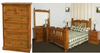 BORON KING 6 PIECE (THE LOT)  BEDROOM SUITE (MODEL - 23-9-14-38-5-19-12-5-18)  - CHESTNUT OR WALNUT