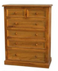 BORON KING 4  PIECE TALLBOY  BEDROOM SUITE (MODEL - 23-9-14-38-5-19-12-5-18)  - CHESTNUT OR WALNUT
