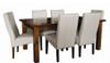 ASIDA  7 PIECE  DINING SETTING - 1800(L) X 1050(W) - (MODEL - 2-21-3-3-15-12-9-3 7PC) -  RUSTIC