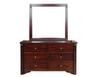 FABULOS   6  DRAWER DRESSING TABLE WITH MIRROR ( MODEL-16-9-14-14-1-3-12-5 )  -  800(H) X 1400(W) - HAZELNUT