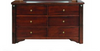 FABULOS   6  DRAWER DRESSING TABLE ( MODEL-16-9-14-14-1-3-12-5 )  - HAZELNUT