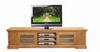 DONSILIA LOWLINE TV DVD ENTERTAINMENT UNIT  WITH DOORS & CONSOLES STORAGE  - ( MODEL- 11-1-11-1-4-21 )  - 2200(W) - RUSTIC