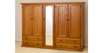 NIMERA (LOCAL MAKE) 3 PIECE WARDROBE WITH 5 DOORS & 4 DRAWERS WITH SHELVES BEHIND MIRROR - CL -1840(H) X 2000(W)) - ASSORTED COLOURS