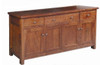 DUOLYN AMERICAN OAK 4 DOOR HARWOOD BUFFET -890(H) X 2010(W)  (MODEL16-1-18-1-13-15-21-914-20) - AS PICTURED