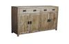 WAREHOUSE 1700(W) 4 DOORS / 3 DRAWERS SIDEBOARD (VWR-007) - 830(H) X 1700(W) - KHAKI