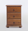 VIC 3 DRAWER BEDSIDE - BLACKWOOD OR WALNUT