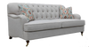 PARIS 3S + 1 +1  FABRIC LOUNGE SUITE - (MODEL -  6-12-15-18-9-4-1) AS PICTURED