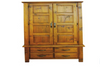 CONVENTRY 2 DOOR 4 DRAWER  WARDROBE  - 2000(H) x 1200(W) - ROUGH  SAWN