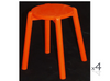 WILLOW (BR048RO) WOODEN ROUND BARSTOOL / KITCHEN BENCH  (4 UNITS IN A BOX) - SEAT: 480(H) - ORANGE, PINK, PURPLE,RED