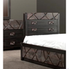 CHALET KING 5 PIECE DRESSER/MIRROR (TONE)  BEDROOM SUITE (1-18-7-12-5) - SAPPHIRE DECORATED WITH SWAROVSKI CRYSTAL