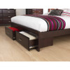 ANGELO DOUBLE OR QUEEN 4 PIECE TALLBOY BEDROOM SUITE (OR-76-1) - DARK CHOCOLATE