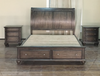 RUDEN   QUEEN   4 PIECE  TALLBOY BEDROOM SUIT  (8221) BED WITH 2 FOOTEND DRAWERS  (MODEL - 7-5-15-18-7-9-1) - BURNISHED CHERRY