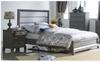 MIDASCO   QUEEN   3 PIECE  BEDSIDE BEDROOM SUIT  (612)    (MODEL - 10-13-19-12-25-14) - GREY