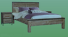 CEMBER 2 DRAWERS  ACACIA HARDWOOD BEDSIDE TABLE - ( 16-15-18-20-12-1-14-4) - WALNUT
