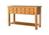 DEEONE  SOFA TABLE WITH SIX DRAWERS / SQUARE LEGS  900(H) X 1200(L) X  400(W) - WALNUT OR BLACKWOOD