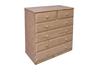 "36""  6  DRAWERS TOP SPLIT  CHEST  1050(H) - STAINED"