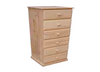 """A 24 """"  6 DRAWERS CHEST  -1330(H) X 600(W) - STAINED"""