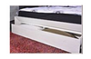GEOLAND KING 5 PIECE DRESSER  BEDROOM SUITE WITH FOOTEND STORAGE DRAWER (MODEL 13-1-18-22-9-14) -WHITE
