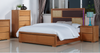 DUAS (614) QUEEN 4 PIECE TALLBOY BEDROOM SUITE WITH  LED LIGHT ON BEDHEAD  (MODEL 1-21-4-18-5-25) - MAPLE