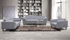 AIDEN   3 + 2+  1 SEATER  RETRO FABRIC  LOUNGE SUITE WITH CUSHIONS - ( KIT#100) -LIGHT  GREY