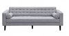 AIDEN   3 +  1 SEATER  RETRO FABRIC  LOUNGE SUITE WITH CUSHIONS - (KIT#100B) -LIGHT  GREY
