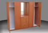 3 PIECE COMBO WARDROBE (3PCE500D) WITH METAL RUNNERS - 1800(H) X 1400(W) -  ASSORTED COLOURS