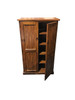 CRYSTAL SHOE CABINET WITH T&G / LINING BOARD DOORS - 1500(H) X 960(W) - CHOICE OF COLOURS AVAILABLE