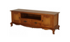 FRENCH PROVINCIAL ENTERTAINMENT UNIT WITH 2 DARWERS AND 2 DOORS (EU 202 FP) - 1680(W) - LIGHT PECAN