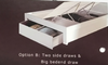 DOUBLE MOCALE  BED WITH  SIDES /  BEDEND DRAWER AND LED LIGHT  (MODEL3-8-9-3-1-7-15) - HIGH GLOSS  WHITE