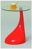 FRANCIS UTILITY TABLE TOP 8MM TEMPERED FIBRE GLASS - WHITE, RED AND BLACK
