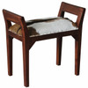 DACEY SINGLE BENCH WITH GOAT HIDE SEAT - MAHOGANY