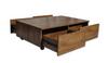 TERESA COFFEE TABLE  ON CASTORS - 900(W) X 500(D)-ANTIQUE OAK