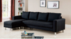 BELLA (MODEL:TM-890) LEATHERETTE LHF OR RHF 3 SEATER CHAISE - ASSORTED COLOURS