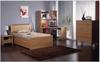 MILAN  KING SINGLE 4  PIECE (STUDY DESK) BEDROOM SUITE -  BEECH OR WALNUT