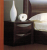 EVITA DOUBLE  QUEEN 3 PIECE BEDSIDE BEDROOM SUITE  -WALNUT