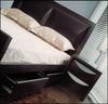EVITA DOUBLE OR QUEEN 5 PIECE (DRESSER) BEDROOM SUITE WITH STORAGE DRAWERS - WALNUT