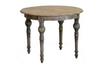 FRENCH PROVINCIAL ROUND DINING TABLE 1000(Dia) - RUSTIC ELM