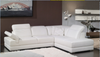 COLLINWOOD LEATHERETTE 3 SEATER + LHS/RHS CHAISE - WHITE