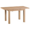 DOVIA (LO-125BET)  EXTENSION DINING TABLE WITH METAL RUNNER - 1250/1750(L)- WASHED OAK