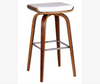 LUCCA BENTWOOD LEATHERETTE BAR STOOL - SEAT:700(H) - WHITE