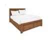 QUEEN ALPINE BED WITH 2X BED FOOT DRAWERS  - GOLDEN WALNUT
