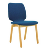 MISSIE  SET OF 2 FABRIC DINING CHAIRS SEAT 440.5(H) -  OAK + MIDNIGHT BLUE